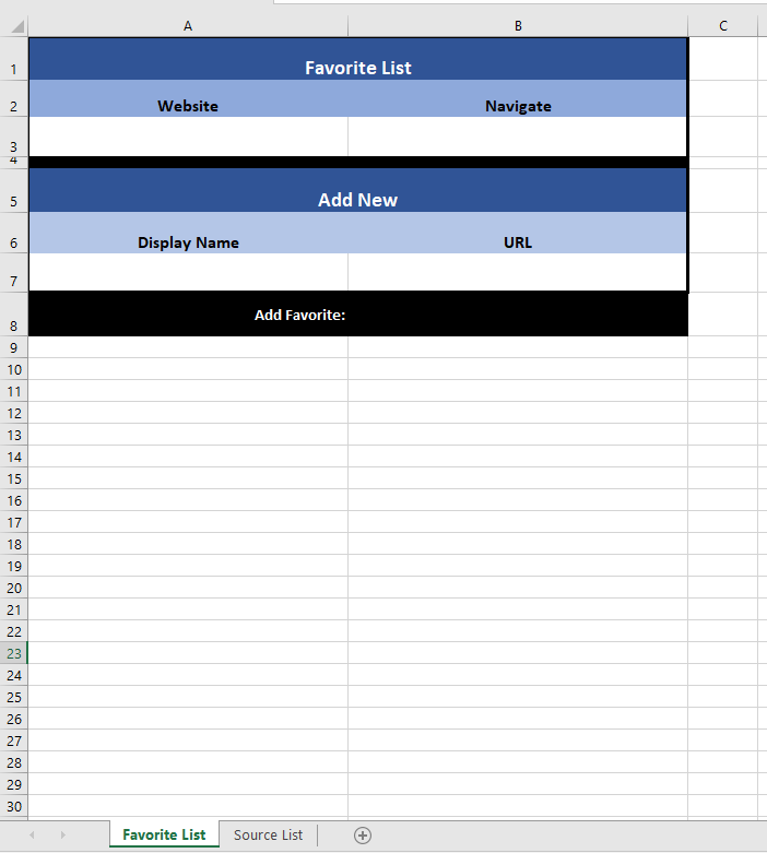 Image Showing Excel Sheet Layout