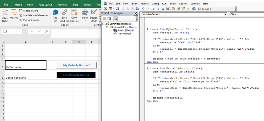Excel Visual Basic #2: Variables and Decisions – Agile-Mercurial