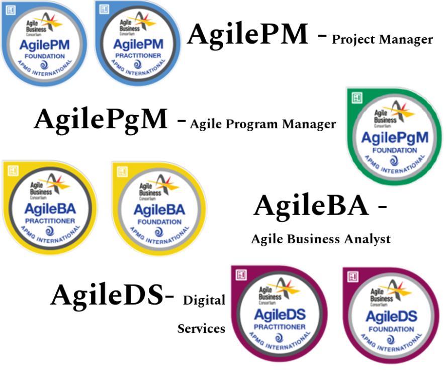 DSDM Certifications: AgilePM, AgilePgM, AgileBA, AgileDS