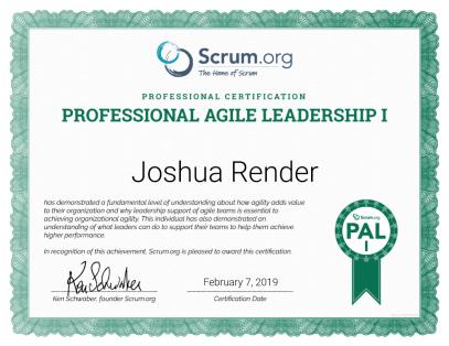 Passing The Pal I Professional Agile Leadership