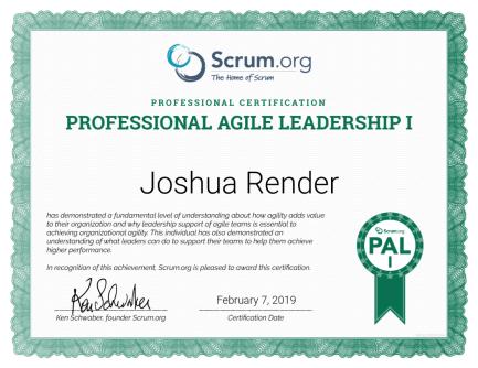 Professional Agile Leadership - PAL I