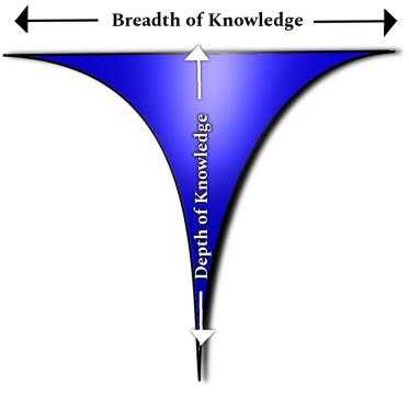 T-Shaped People Model / Diagram