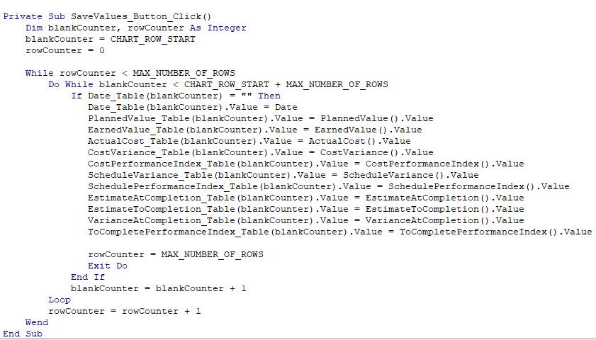EVMSaveCode